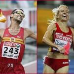 Marta Dominguez y García Bragado, mejores atletas españoles 2009
