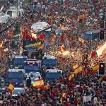 Recibimiento de España a los campeones