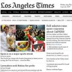 Los éxitos del deporte español en Los Angeles Times