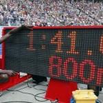 Rudisha, nuevo récord mundial en 800 m.