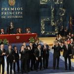 Del Bosque y 10 jugadores recogen el Príncipe de Asturias