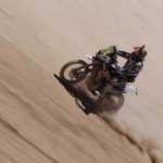 Caída de Marc Coma en el rally Dakar