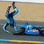 Caida de Álvaro Bautista en el GP de Qatar