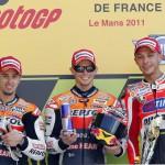 Stoner gana en Le Mans y Pedrosa se fractura la clavícula