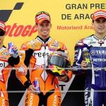 GP de Aragón: victorias de Stoner, Márquez y Terol