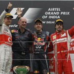 Vettel gana el GP de India, Alonso tercero