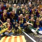 El Barcelona campeón de Europa en fútbol sala