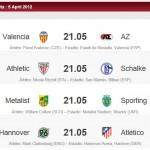 Horario partidos de vuelta cuartos de final Europa League