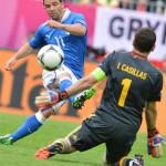 España comienza la Eurocopa empatando con Italia.