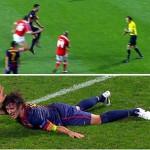 Lesión de Puyol y expulsión de Busquets contra el Benfica