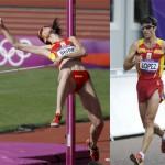 Míguel A. López y Ruth Beitia, los atletas españoles de 2012