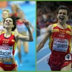 Plata para Macías e Higuero en el Europeo de pista cubierta