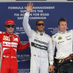 Pole para Hamilton en el GP de China
