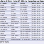 Calendario del Mundial de Motociclismo 2014