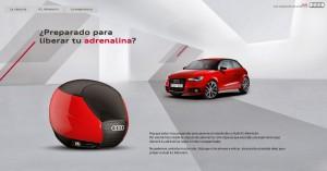 Web Audi desafío A1 Adrenalin