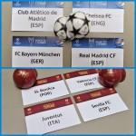 Sorteo semifinales competiciones europeas de fútbol