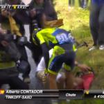 Contador abandona el Tour tras una caída