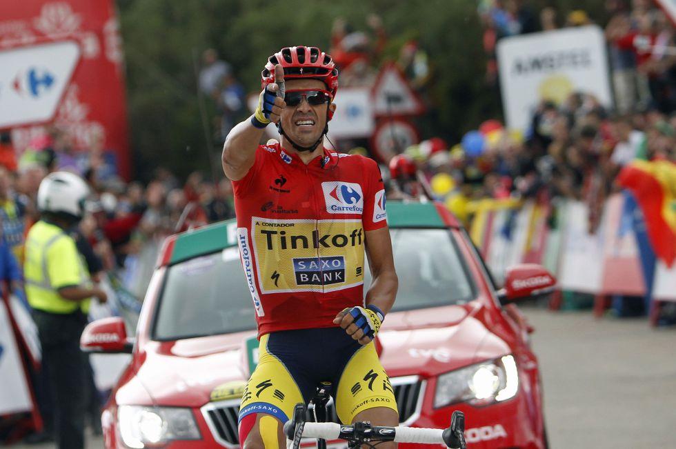 Contador gana la etapa reina de La Vuelta
