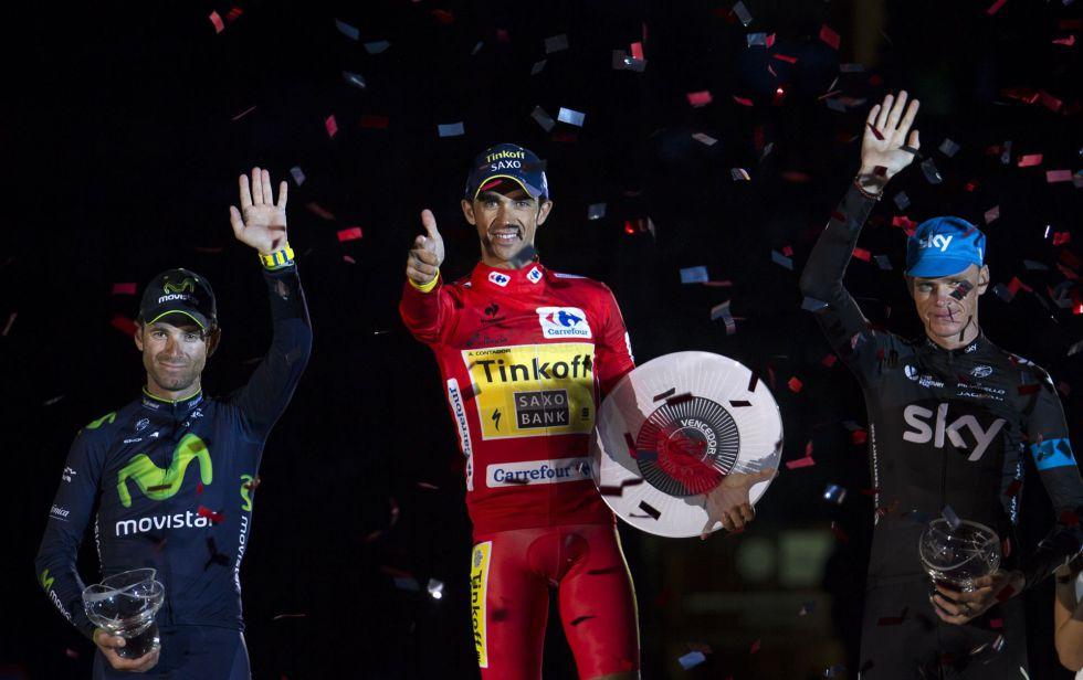 Podio Vuelta España