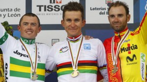 Podio Mundial Ciclismo 2014