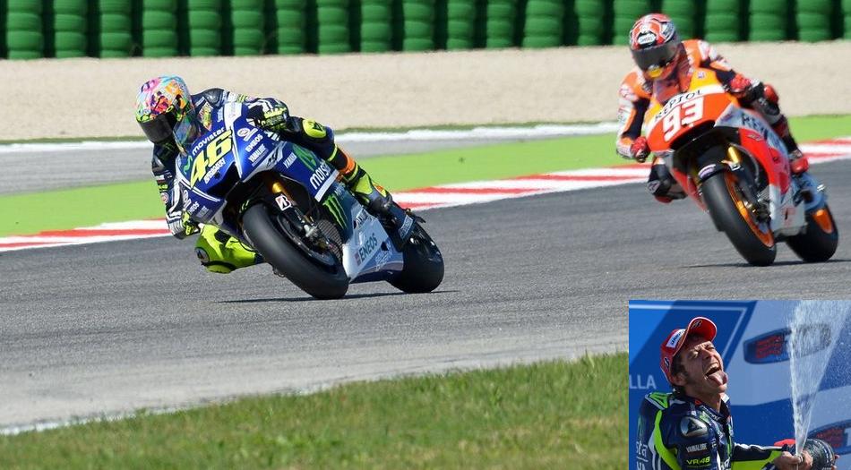 Rossi gana el GP de San Marino