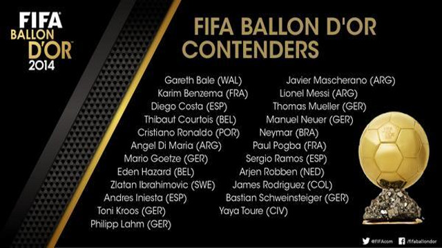Candidatos al Balón de Oro 2014