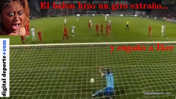 Gol a Casillas