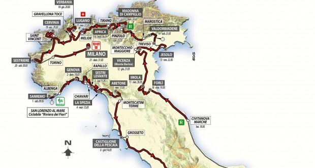 Recorrido del Giro de Italia 2015