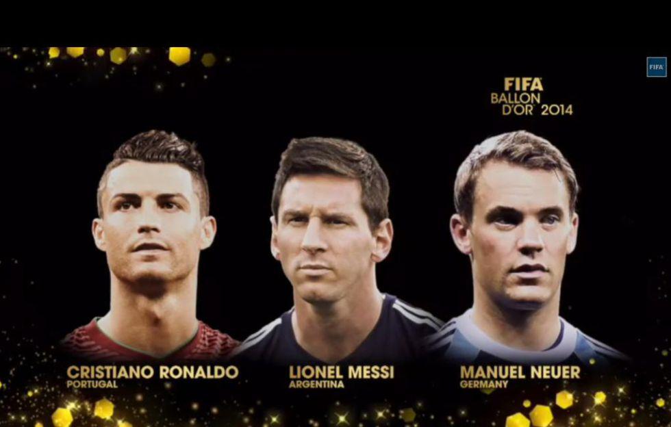 Finalistas Balón de Oro 2014
