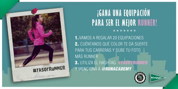 Participa en el concurso #YaSoyRunner del Corte Inglés