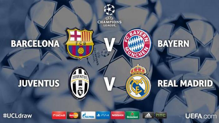 Sorteo de semifinales Europa 2014-15