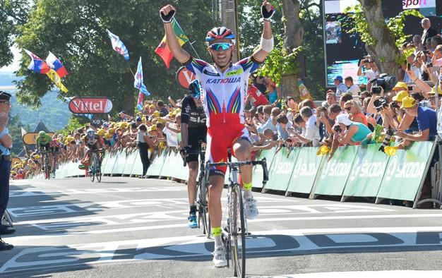 Purito gana la etapa y Froome el amarillo