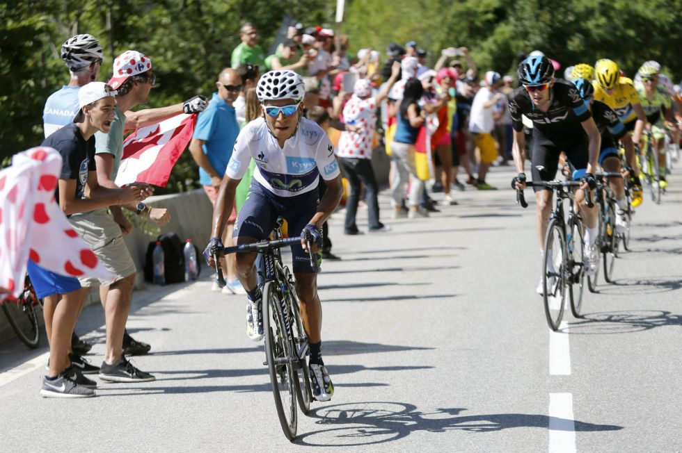 Quintana y Valverde en el Alpe d´Huez