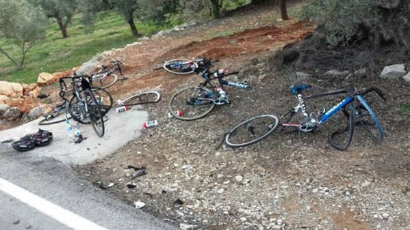 Atropellados ciclistas del Giant