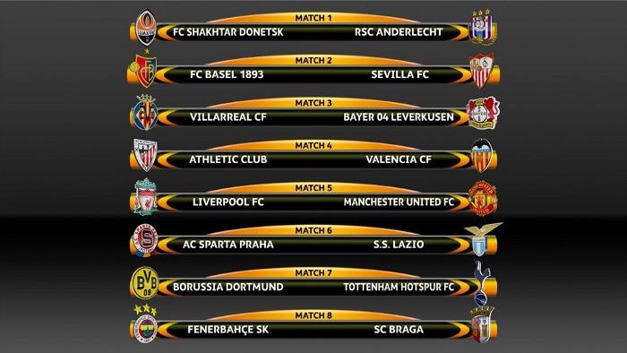 Sorteo octavos de Europa League