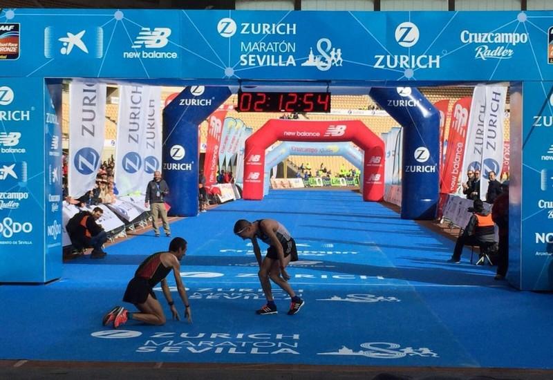 Castillejo campeón de España en maratón de Sevilla
