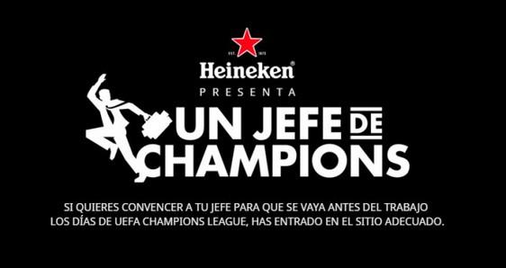 Un jefe de Champions con Heineken