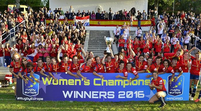 España campeona de Europa rugby femenino