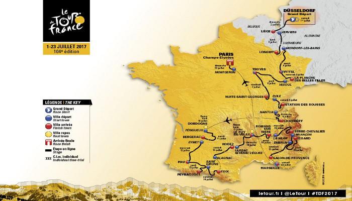 Recorrido Tour de Francia 2017