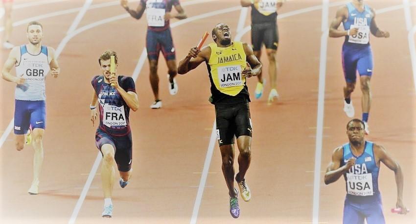 Usain Bolt se lesiona en su despedida