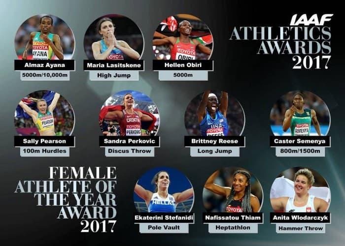 Nominados Mejor Atleta femenina