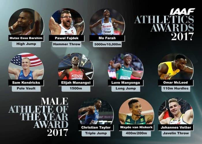 Nominados al Atleta del Año 2017