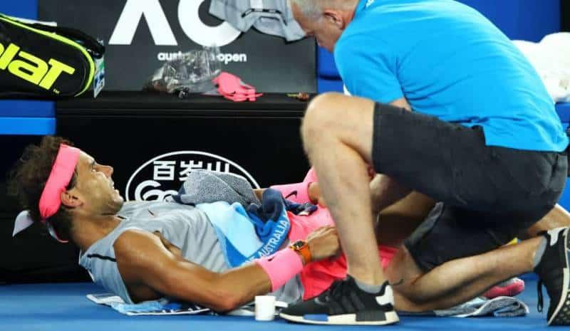 Preocupantes lesiones en los tenistas